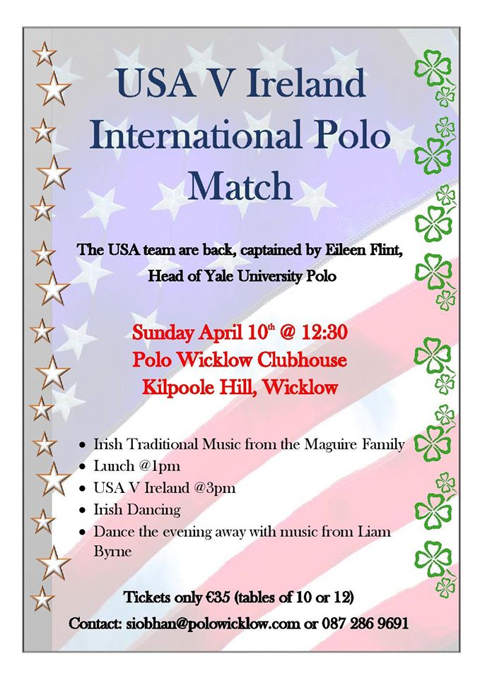 USA v Ireland Polo Match, Sunday 10 April