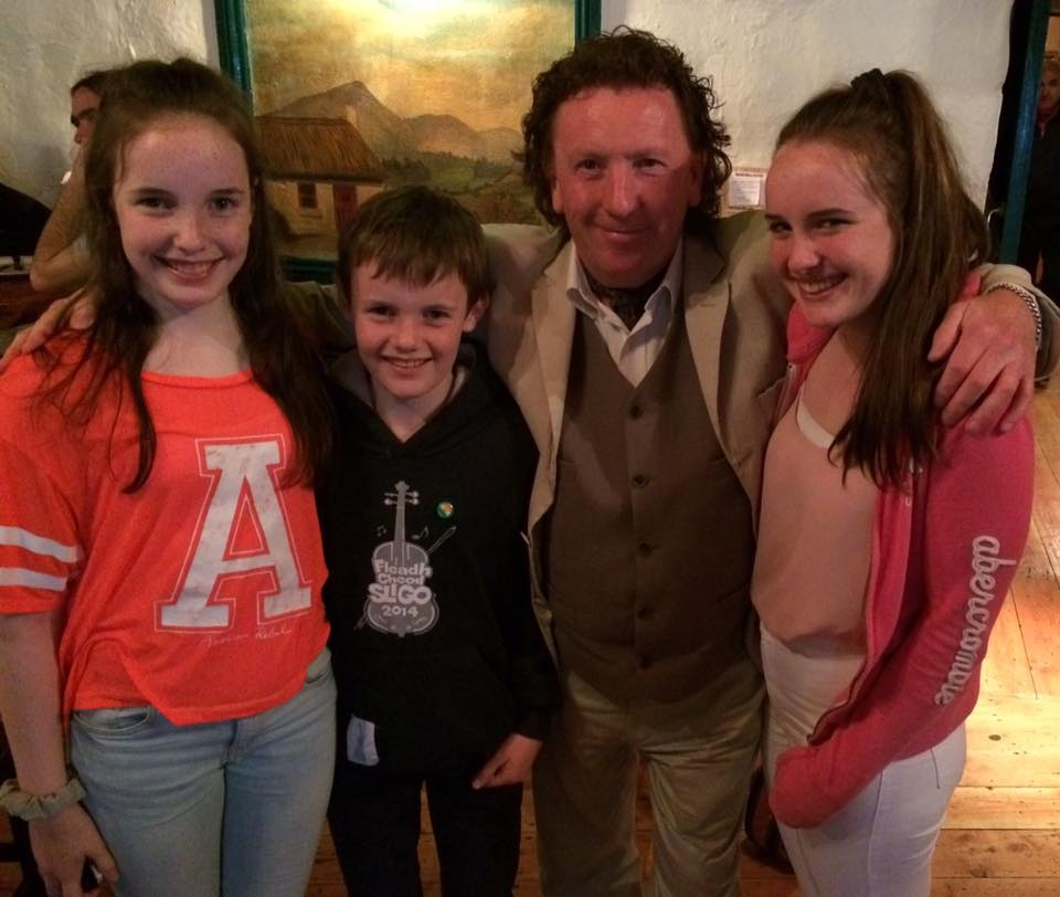 Maguire kids with Frankie Gavin in Monroes